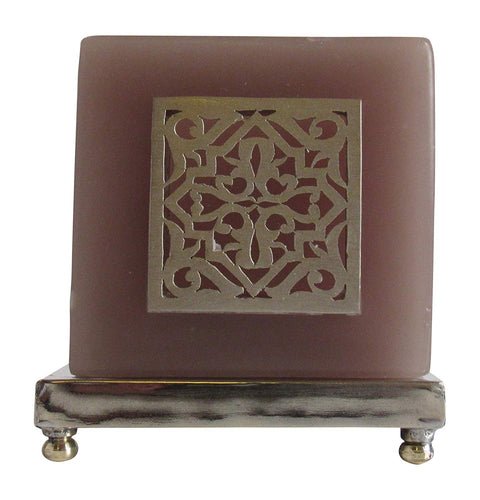 Moroccan Alhambra Tea Light Candle Holder, Grey - Marrakesh Gardens