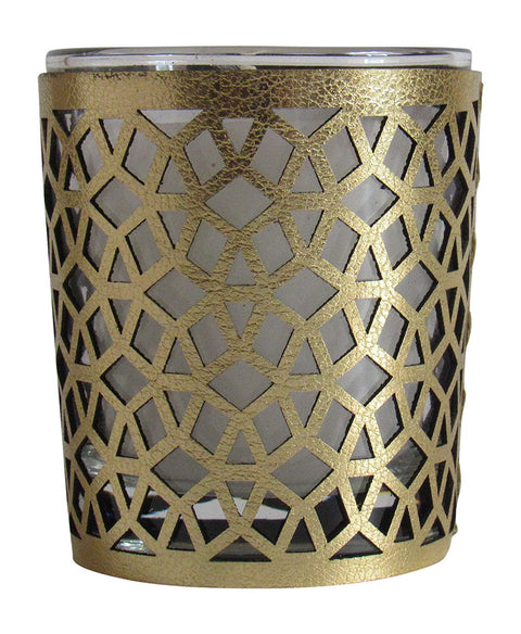 Moroccan Amber Scented Candle , Gold, 6 oz - Marrakesh Gardens