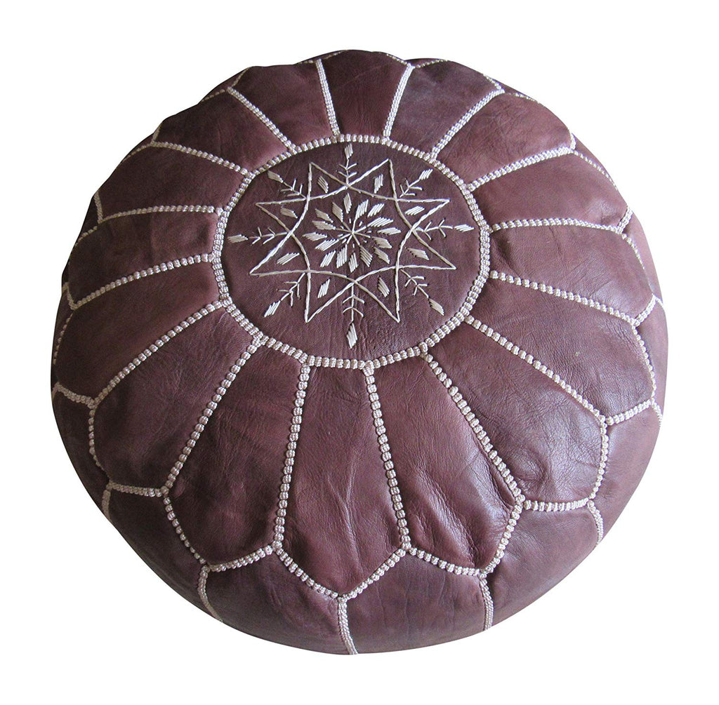 Authentic Moroccan Handmade Pouf. - Marrakesh Gardens