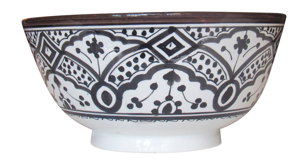 Moroccan Salad Bowl, Large 12 IN - Marrakesh Gardens