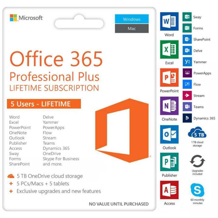 LIFETIME Microsoft Office 365 and Office 2019 PROFESSIONAL Hot Offer