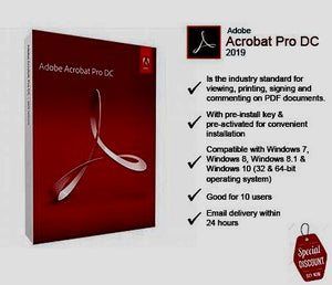 Adobe Acrobat Pro DC 2019 for Windows OS - lowpriceskey