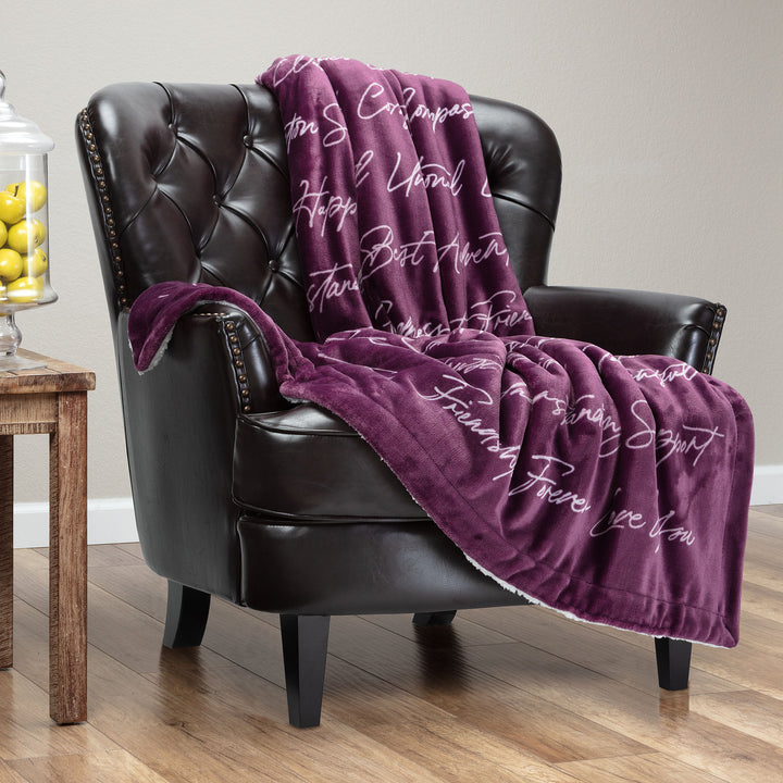Best Friend Aubergine Throw