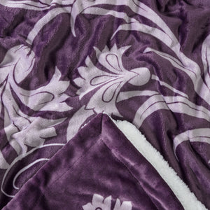 Best Mother Aubergine Throw