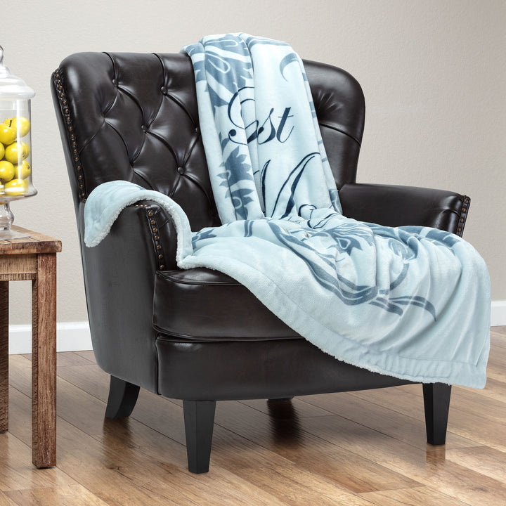 Best Mother Light Blue Throw