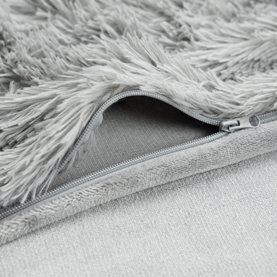 Longfur Gray Duvet Set