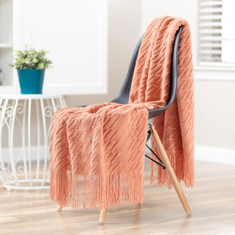 Bevel Coral Throw