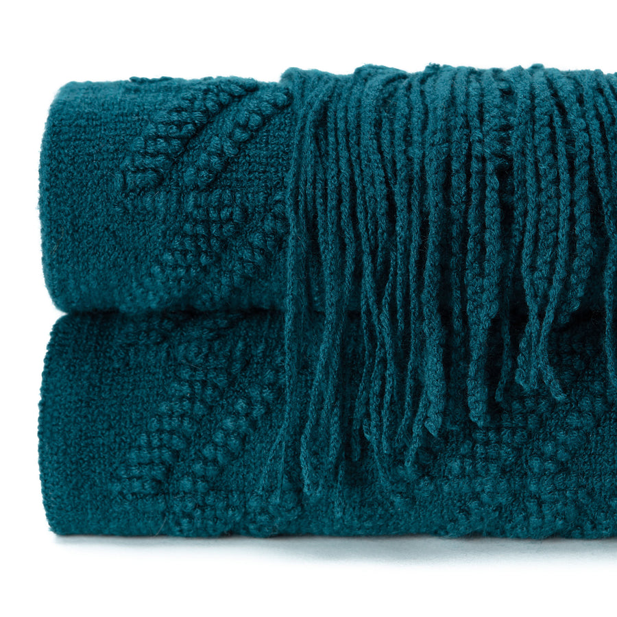 Bevel Deep Teal Throw