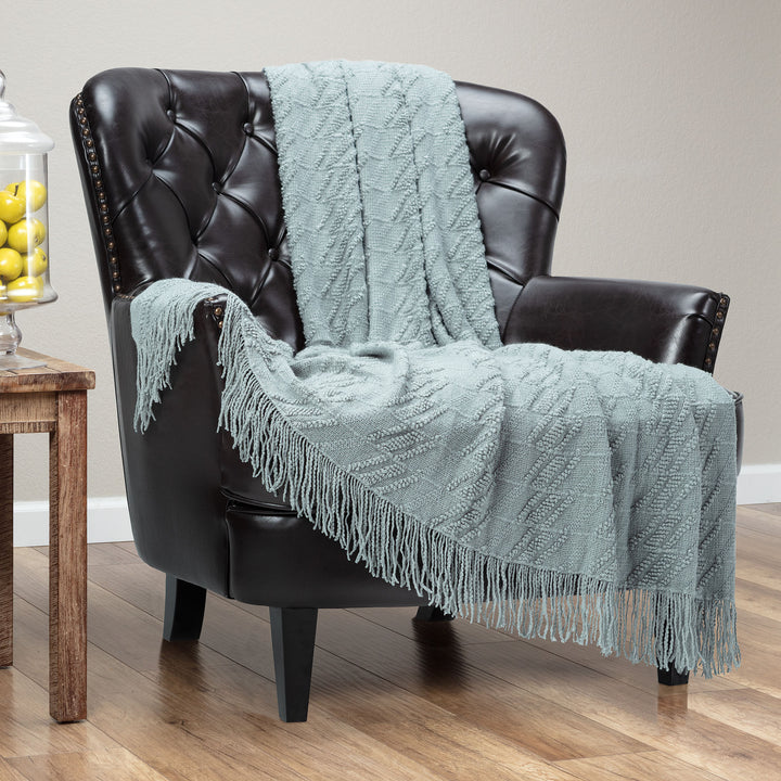 Bevel Tan Sage Throw