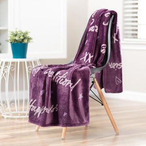 Friend Aubergine Throw