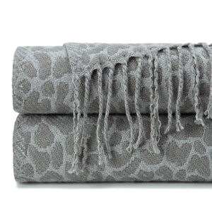 Leopard Charcoal Throw