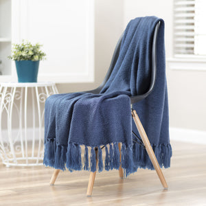 Mini Maze Royal Blue Throw