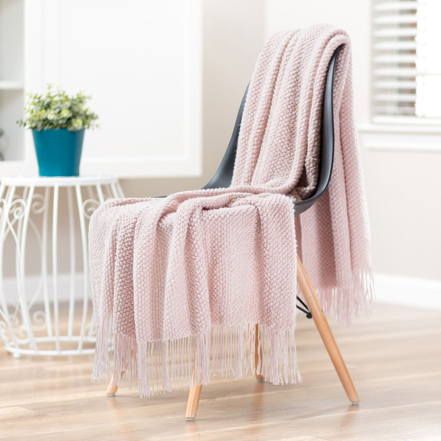 Roundpearl Classy Pink Throw