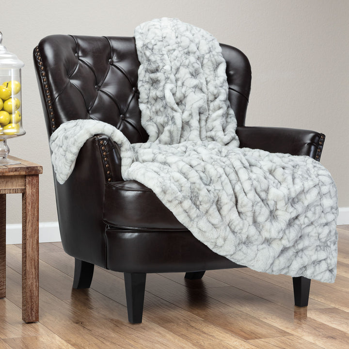 Ruched Marble Throw