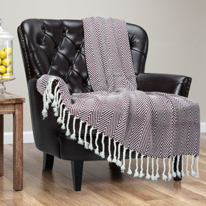 Soft Chevron Wine Throw