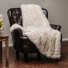 Solid Long Fur Creme Throw