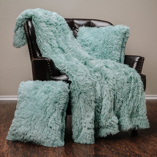 Solid Long Fur TPC Turquoise Combo