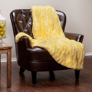 Deco Yellow Throw