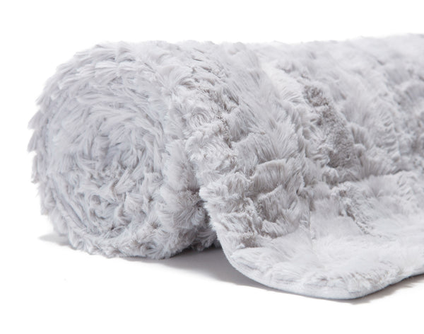 Feather Silver Throw