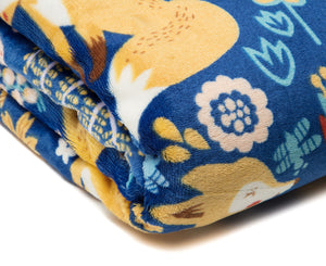 Gold Fox Blue Throw
