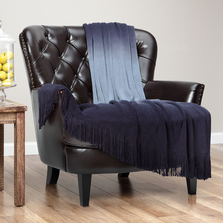 Gradual Midnight Blue Throw