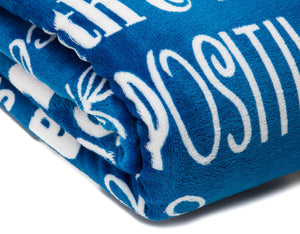 Hope Faith Blue Throw