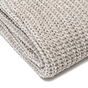 Knit Taupe Throw