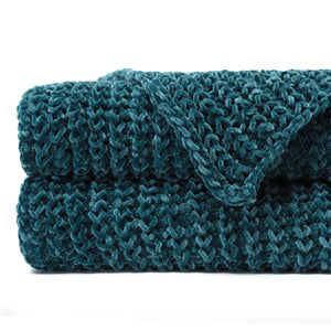 Knit Teal Throw