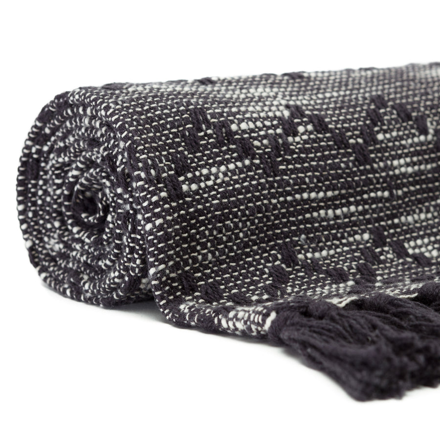 Mod Diamond Black Throw