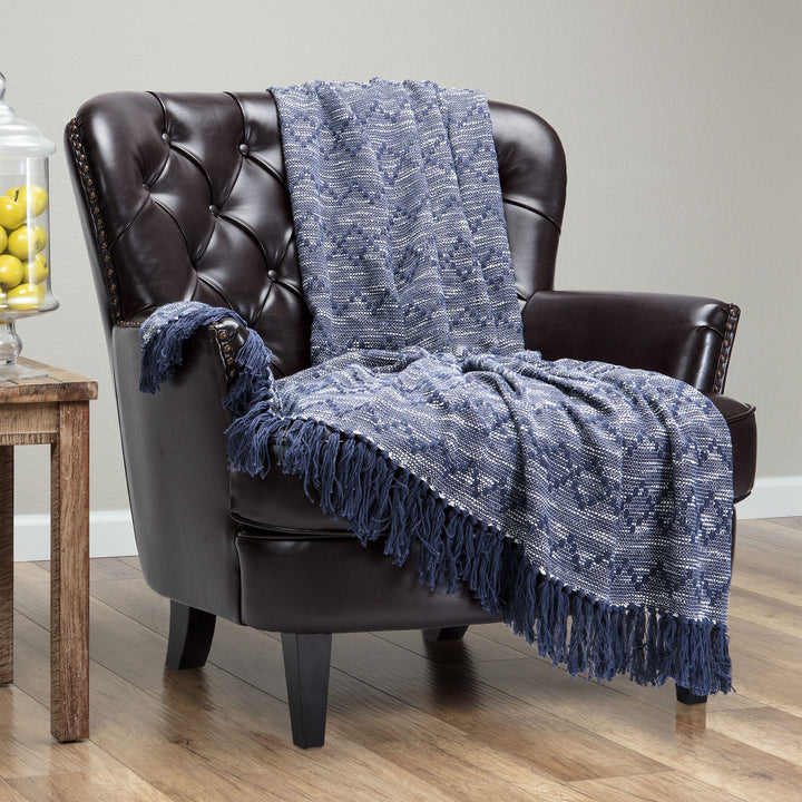 Mod Diamond Indigo Throw