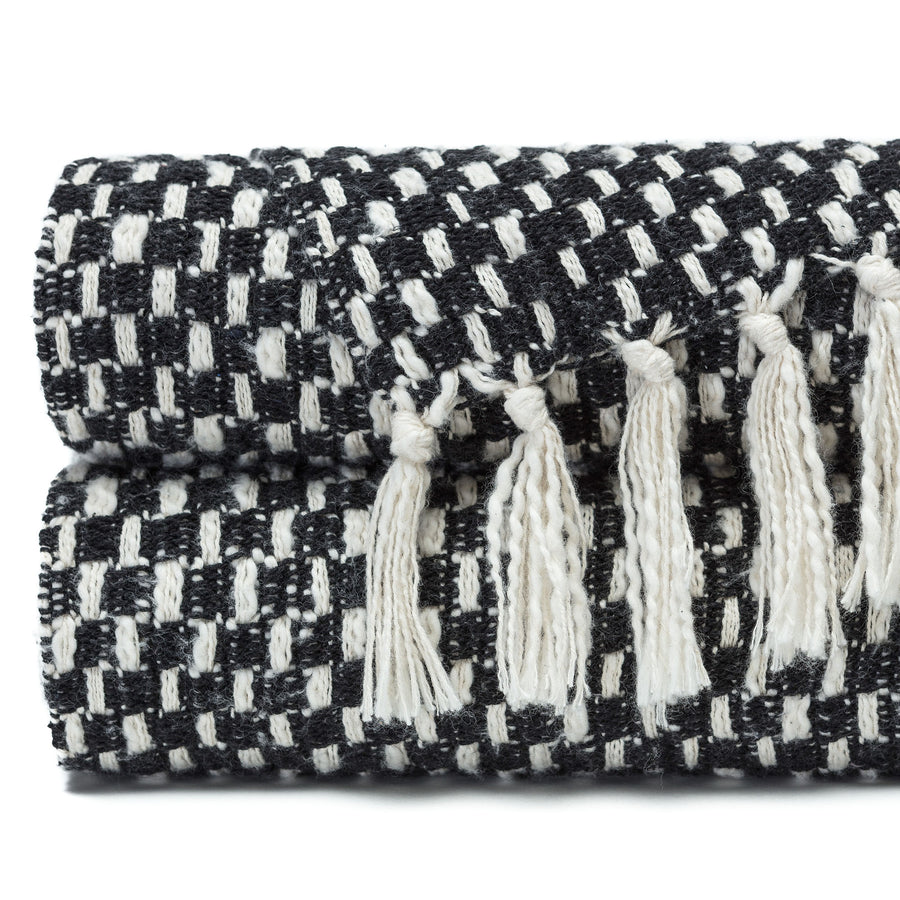 Monochrome Black Throw