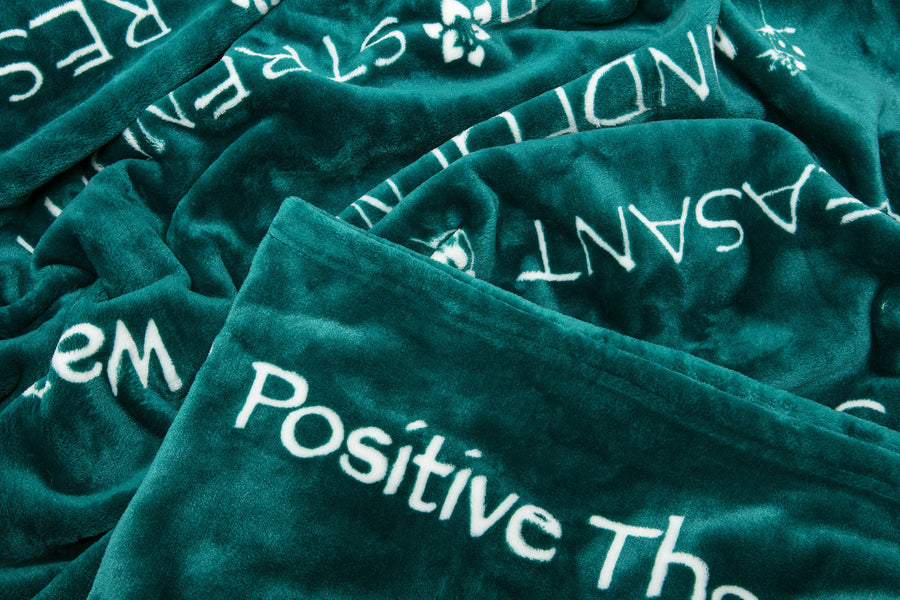 Positive Teal Throw