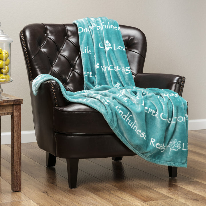 Positive Turquoise Throw