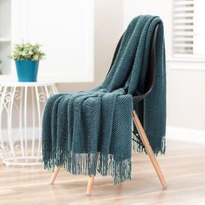Roundpearl Teal Throw