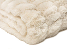 Ruched Off White Throw