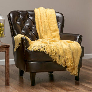 Shiny Soft Yellow Throw