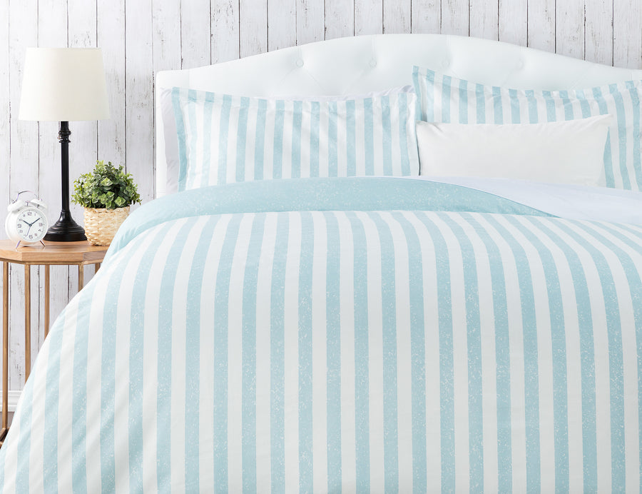 Stripe Light Blue Duvet Set