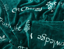 Yoga Teal Throw