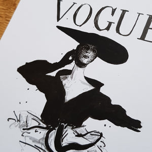 """VOGUE - alt"" Original Drawing"