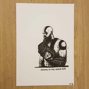 Original drawing God of War