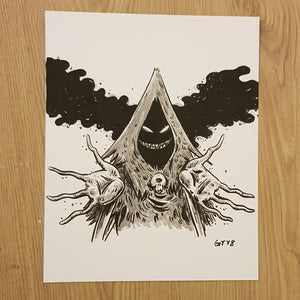Original drawing (inktober) Evil Guy