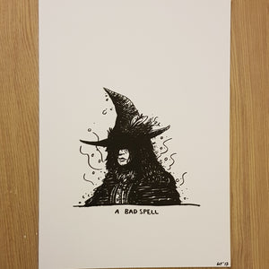 Original drawing A Bad Spell Witch