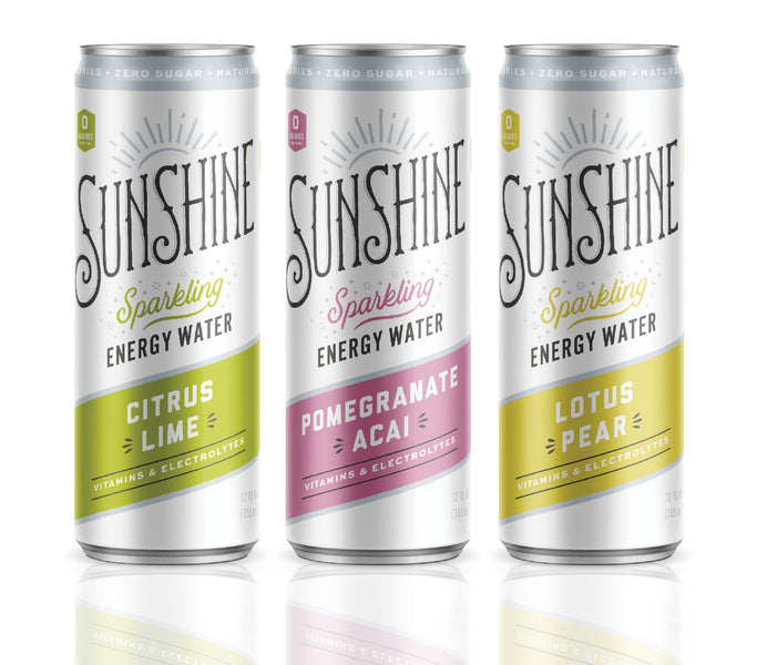 INTRODUCING... Sunshine Sparkling Energy Water!
