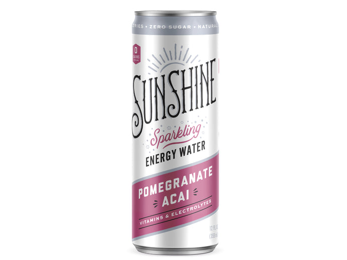 NEW Sparkling Energy Water - Pomegranate Acai 12 pack (12oz)