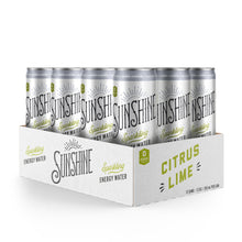 Load image into Gallery viewer, NEW Sparkling Energy Water - Citrus Lime 12 pack (12oz)