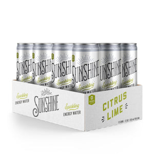 NEW Sparkling Energy Water - Citrus Lime 12 pack (12oz)