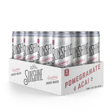 Load image into Gallery viewer, Sparkling Energy Water - Pomegranate Acai (12 pack)