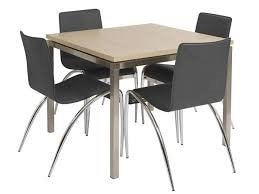 Actona QUE LIGHT ASH DINING TABLE AND 4 LEATHER CHAIRS