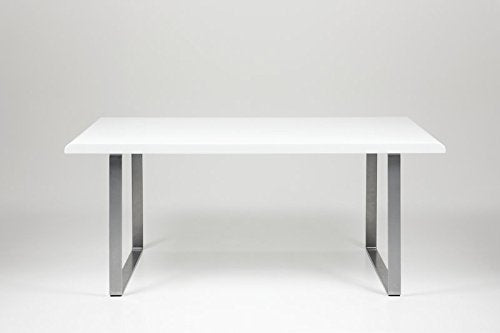 Actona WHITE RADIUS HIGH GLOSS DINING TABLE
