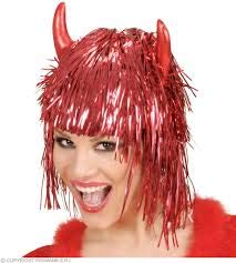 PREMIER TINSEL DEVIL WIG - (Red)